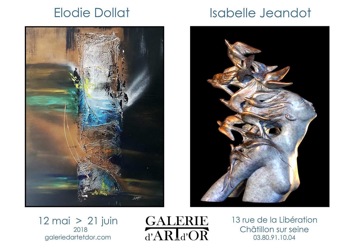 galerie d'art et d'or Isabelle Jeandot Elodie Dollat