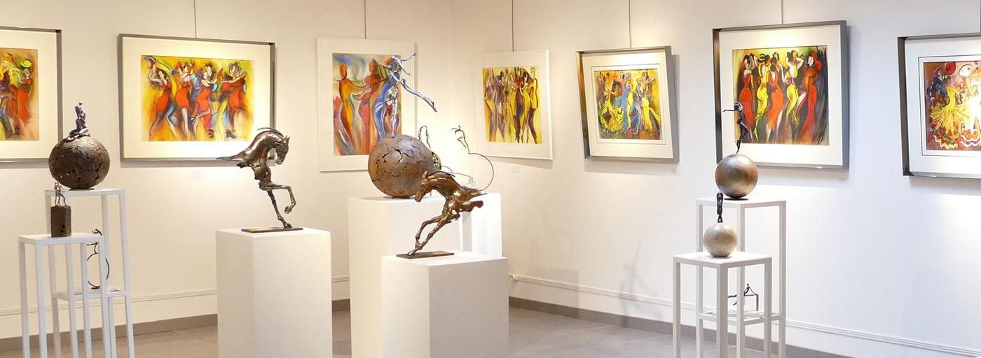 Christina Manzoni disponibles à la Galerie d'Art et d'Or jusqu'au 10 mai prochain