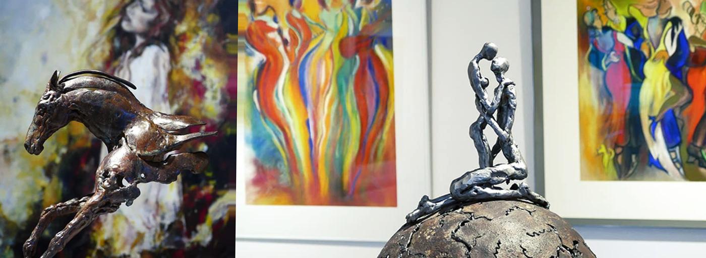 Annick Dumarchey disponibles à la Galerie d'Art et d'Or jusqu'au 10 mai prochain