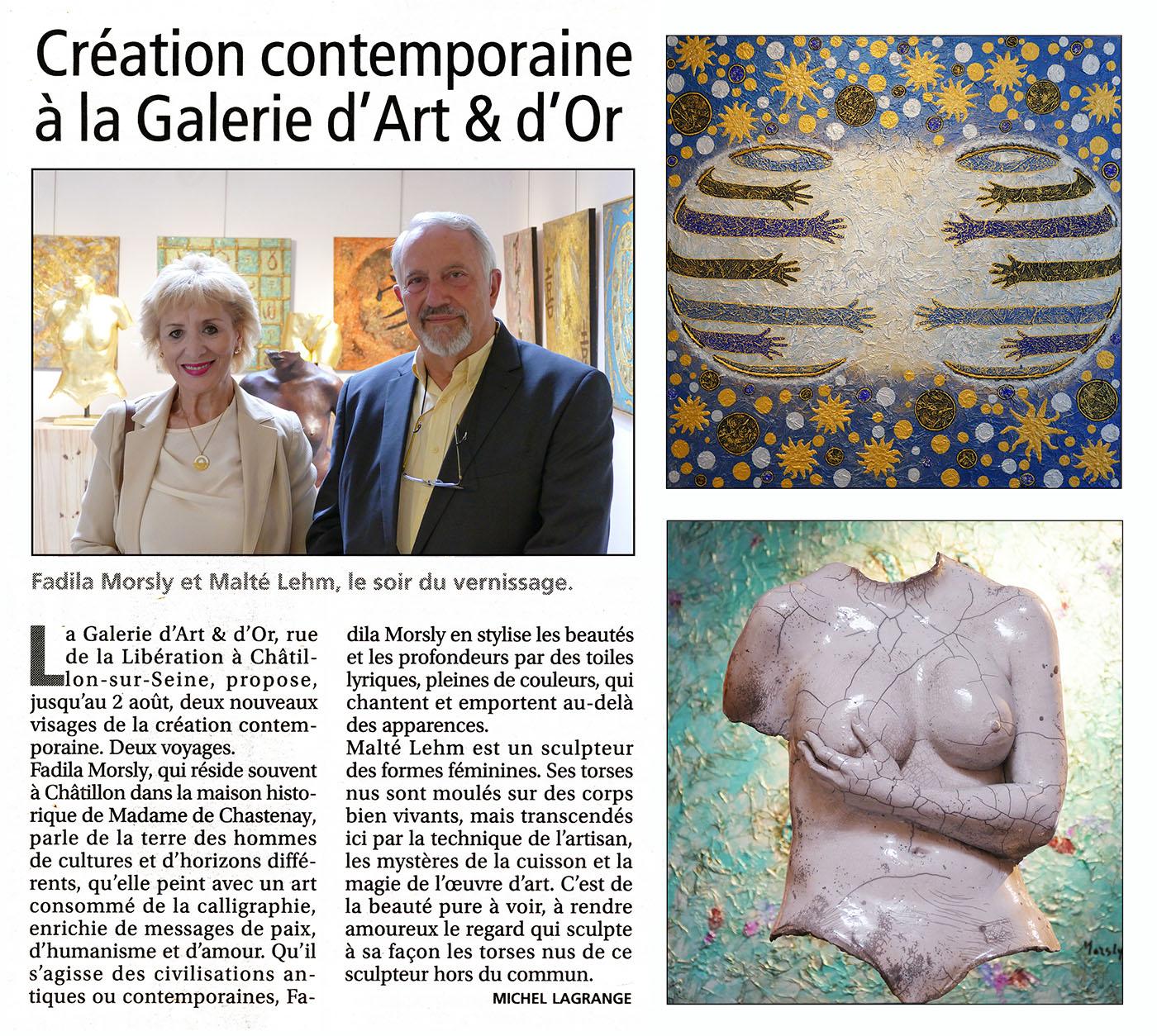 Galerie d'art et d'or - F.Morsly - M.Lehm