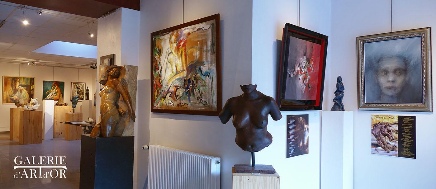 Galerie d'art et d'or restrospective